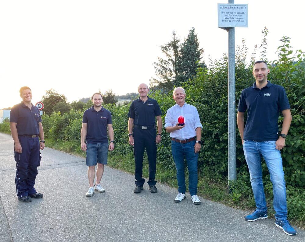 Mithilfe eines Warnkonzepts möchten Feuerwehr und Stadtwerke Bad Säckingen für anfahrende Privatfahrzeuge der Feuerwehr im Murger Weg senisibiliseren.