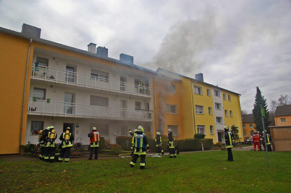 Gegen Mittag kam es am 26. November 2020 in Essen-Stoppenberg zu einem Brand im Keller eines Mehrfamilienhauses.