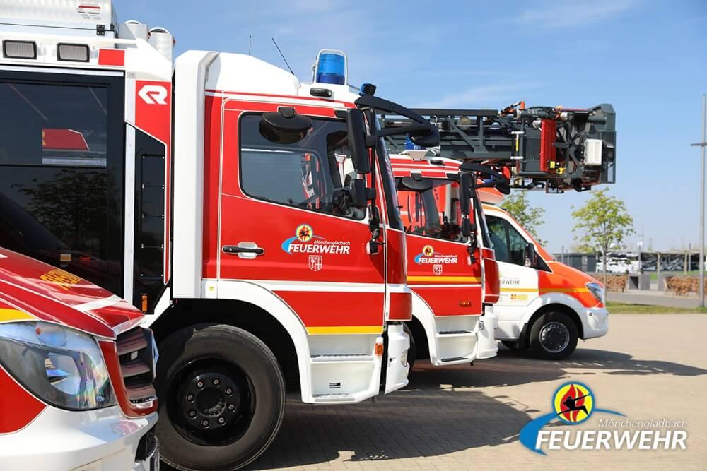Überhitztes Wachs löste am Nachmittag des 2. Dezember 2020 einen Einsatz der Feuerwehr Mönchengladbach aus.