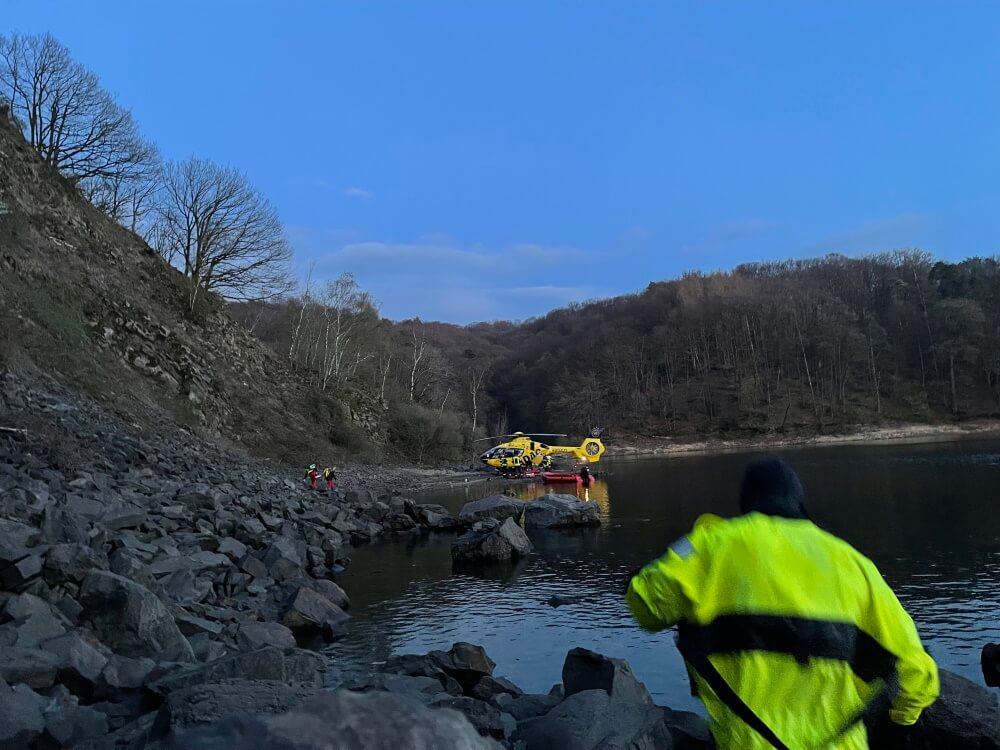 Mittels Helikopter wurde die verletzte Siegburgerin in eine Klinik gebracht.