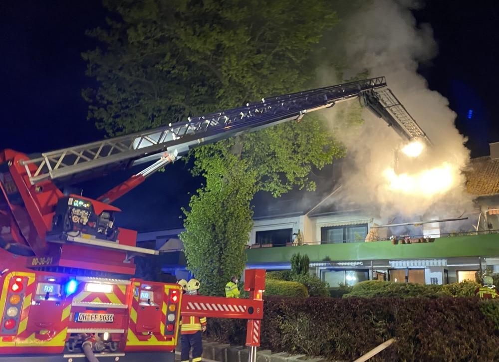Während eines Wohnungsbrand in Gronenberg wurde eine Person vermisst.