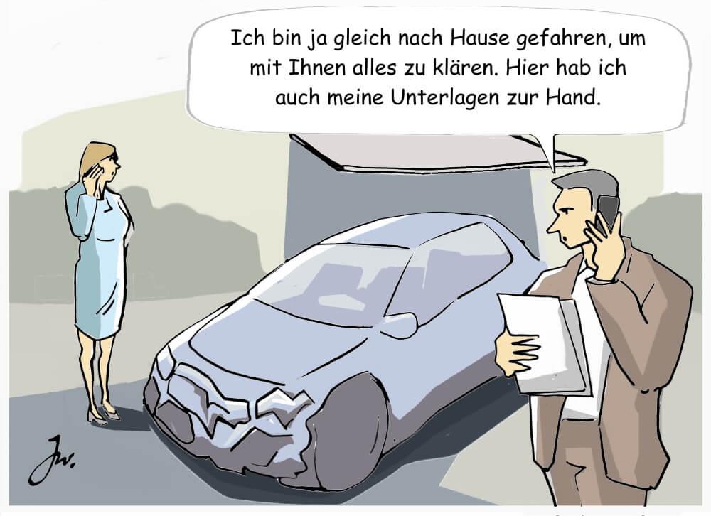 Bei einem Verkehrsunfall stehen Autofahrer*innen unter Stress. Entsprechend wissen sie oft nicht, wie sie sich richtig verhalten sollen. Das Goslar Institut klärt auf.