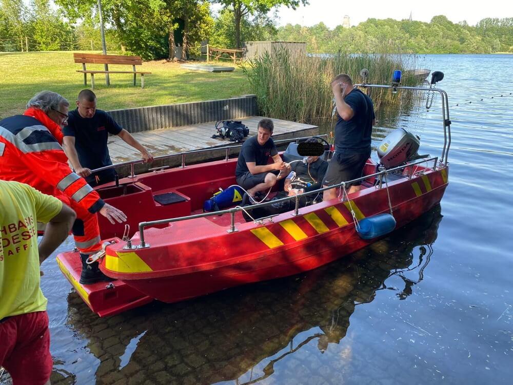 Ein Taucher verunfallte am 17. Juni 2021 im Kreidesee in Hemmoor.
