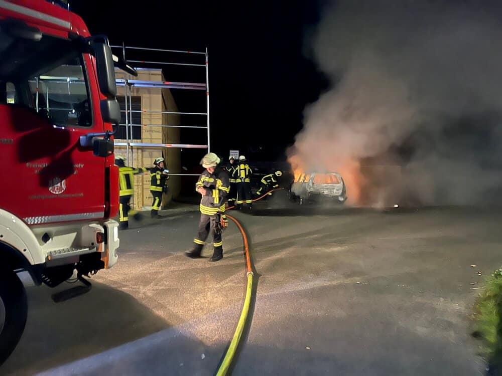 Zu zweiten Brandstiftung innerhalb von vier Tagen kam es in der Nacht vom 1. auf den 2. September 2021 bei der Löschgruppe Happerschoß der Freiwilligen Feuerwehr Hennef.